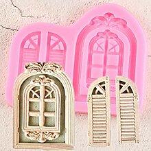 ZZYOU Fenster Kuchenrahmen Silikonform Tür Fudge
