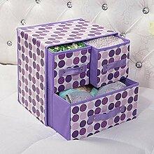 zzyuanwei Ziehbare Aufbewahrungsbox Stoff Faltbox