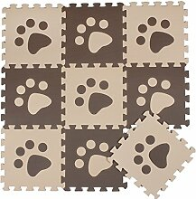 ZZYY BG699 Spielmatte Puzzle 10 Stücke Beige and