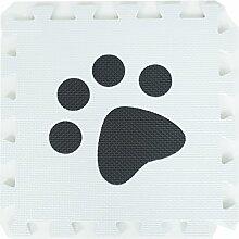 ZZYY Schwarz und weiß EVA Schaumstoffmatten Kinder Verriegelt Spielmatte Puzzle - Baby Kriechende Matten Weiche Spielmatten - 31,5 x 31,5 x 1cm Umweltfreundlich (40 Stücke, Schwarz und Weiß Pfoten)