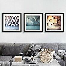 ZZZSYZXL Abstract modern minimalistische Wohnzimmer dekorative Malerei gerahmte Restaurant 3 ein Flur Wand , 60*60