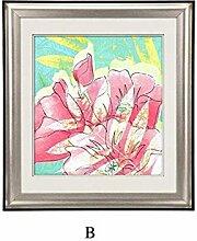 ZZZSYZXL Esszimmer Wohnzimmer Schlafzimmer abstrakte einfache Farbe Blumen Wandbilder 65 * 60cm , b , 65*60