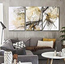 ZZZSYZXL Moderne abstrakte Wand-Dekor-Gemälde auf Leinwand 40 * 60cm 3pcs Gestreckt und gerahmt fertig zum Aufhängen , a , 40x60