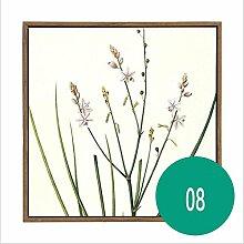 ZZZSYZXL Modernes unbedeutendes Wohnzimmer dekorative Malerei Pflanze Blumenwandmalerei - Frühling Atmung , 8
