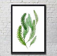 ZZZSYZXL Rahmen dekorative Malerei kleine frische Pflanzen und Blumen kreative Kombination Sofa im Wohnzimmer Wandbild , d