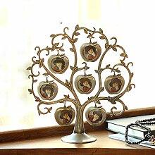 ZZZSYZXL Sieben Merkmale der alten Zinn-Rahmen Fotorahmen kreative Apfel Dekoration