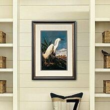ZZZSYZXL Tier Heron Wandmalerei Esszimmer Wohnzimmer Schlafzimmer mit Rahmen Malerei verziert , a models 68*49cm