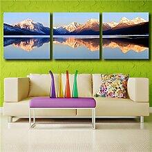 ZZZSYZXL Wohnzimmer Schlafzimmer dekorative Berglandschaft Ink-Jet-Sofahintergrund Wand 3pcs Malerei Leinwand , 80cmx80cm box